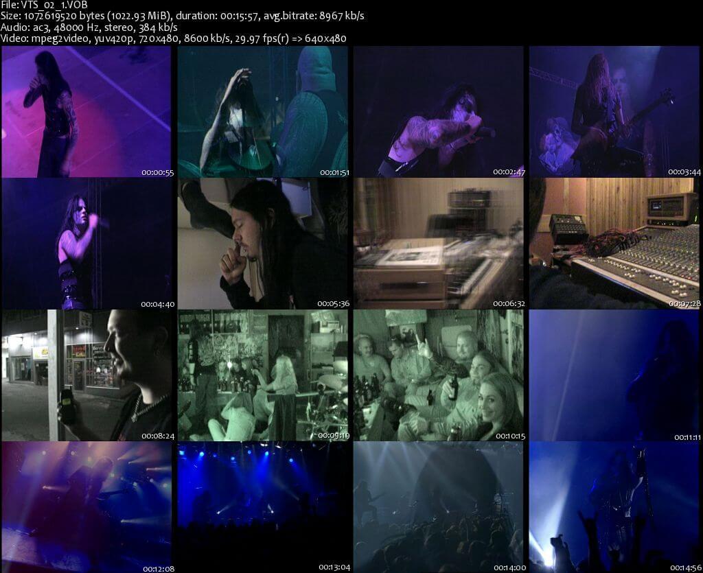 Dimmu Borgirs - Wold Misanthropy DVD X 2 SCREENSHOTS